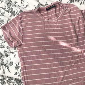 Brandy Melville pink striped sammy